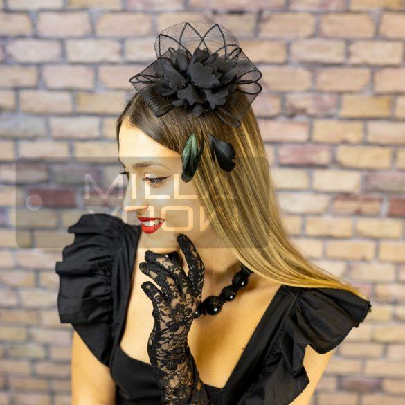 Carnevale tollas virág fejdísz-fekete