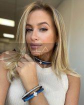 Fashion choker karkötő szett-kék