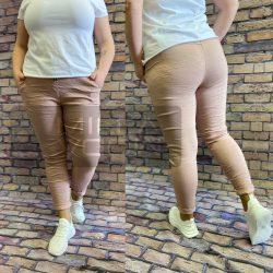 Detti zsebes vászon nadrág-világos mályva