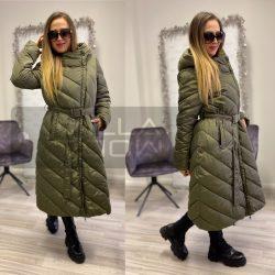Lívi hosszú pufi kabát-khaki